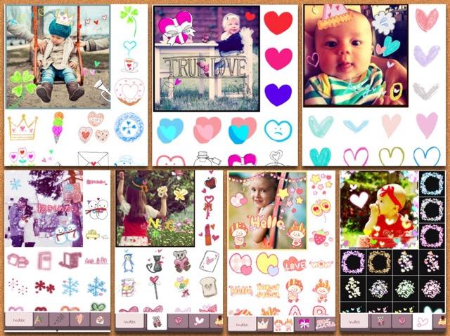 可愛いスタンプがたくさんあるアプリ
