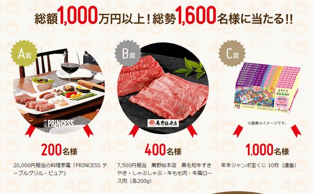ヨシケイ40周年キャンペーンプレゼント