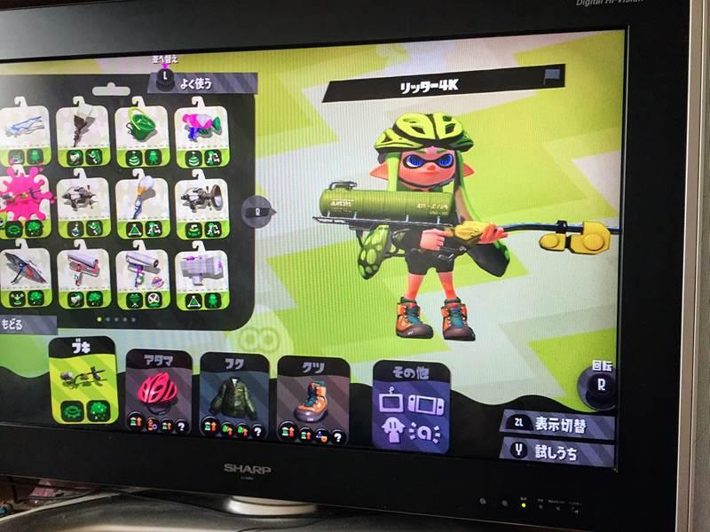 Nintendo Switch スプラトゥーン2のテレビHDMI切替器で出力