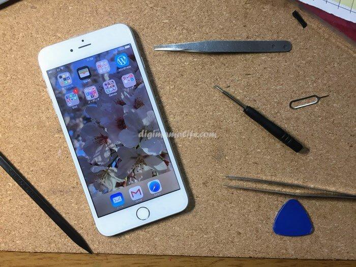 iPhone6Plusの画面交換成功