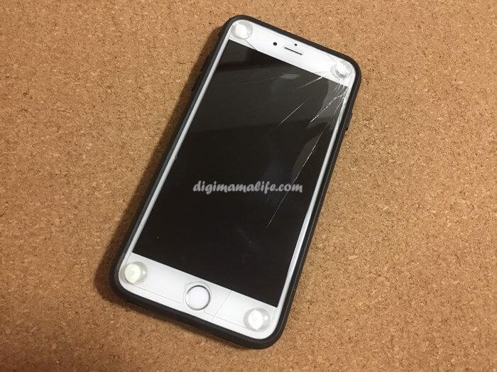 iphone6 plusの画面が割れた