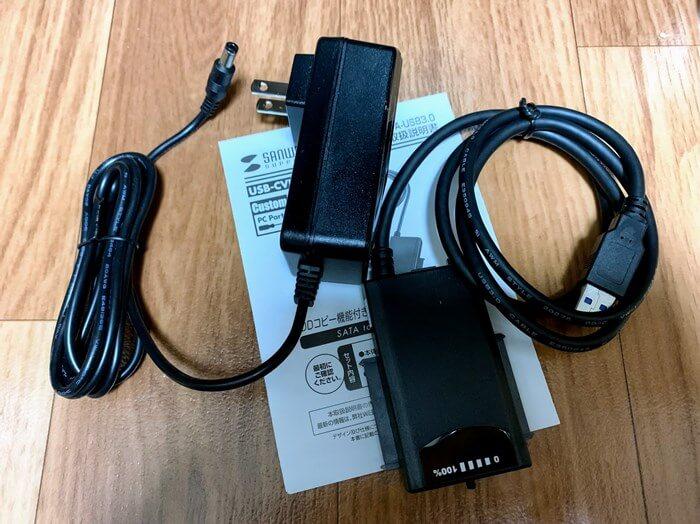 サンワサプライ HDDコピー機能付きSATA - USB3.0変換ケーブル 1.0m USB-CVIDE4